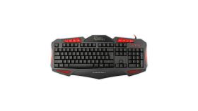 WHITE SHARK GK-1621R :: Геймърска клавиатура Shogun, червена подсветка