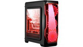 Кутия за настолен компютър SEGOTEP HALO 1 черно-червена mid tower