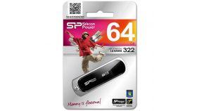 64GB,USB2.0 FLASH DRIVE / Luxmini 322,Black