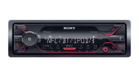 Sony DSX-A410BT In-car Media Receiver with USB, Red illumination