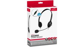 Speedlink ACCORDO Stereo Headset, Ultra lightweight, Flexible microphone arm, Adjustable headband, Inline remote, Cable: 1.7m, black