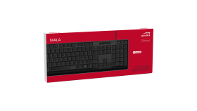 Speedlink NIALA Keyboard, Ergonomic key shape, Full-size keyboard including arrow keys and numpad, 1.4m cable, black - US Layout