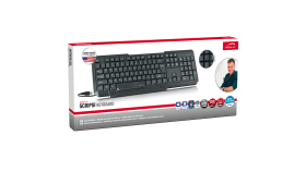 Speedlink SCRIPSI Keyboard USB, black - US Layout, Full-size keyboard including arrow keys and numpad, Three status LEDs, Cable: 1.4m