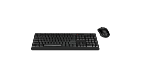 Speedlink NIALA Deskset - Wireless, Mouse+Keyboard Set, 1,600dpi optical sensor and dpi switch,Single nano USB WL receiver for mouse and keyboard,Full-size keyboard+numpad,black - US Layout
