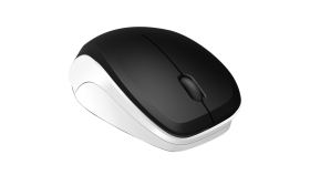 Speedlink LEDGY Mouse - wireless, 3-button, Ergonomic, Power-saving mode,1.200dpi optical sensor, 2.4GHz wireless technology with a range of up to 8m, black-white