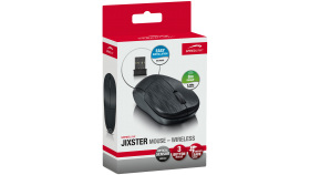 Speedlink JIXSTER Mouse - Wireless, 3-button, 1,400dpi resolution, Up to 8m range, Suitable for left- or right-handers, black