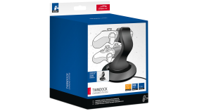 Speedlink TWINDOCK Charging System - for PS4, charging station for two controllers, AC adapter included, charging time: approx. 2.5hrs, Cable length: 1.5m, black