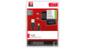 Speedlink FUZE USB Power Supply - 230V charger for the Nintendo® NDSi/NDSi XL/N2DS/N3DS/N3DS XL/New N3DS/New 3DS XL, with mains plug and USB port, black, 1.5m cable