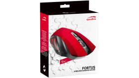 Speedlink FORTUS Gaming Mouse - Wireless, 5-button, range of up to 6m, resolution from 600 to 2,400dpi, dpi switch, black