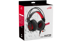 Speedlink MAXTER Stereo Gaming Headset, Connection: 2 ? 3-pole 3.5mm jack plugs, USB connector for illumination, Cable: 2.2m, black