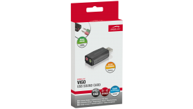 Speedlink VIGO USB Sound Card, Microphone input (mono) for connecting a headset, Compact and lightweight , black
