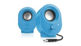 Speedlink SNAPPY Stereo Speakers, 4W RMS output power, USB powered, Volume control, Cable length: 1.2m, blue