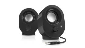 Speedlink SNAPPY Stereo Speakers, 4W RMS output power, USB powered, Volume control, Cable length: 1.2m, black