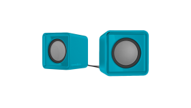 Speedlink TWOXO Stereo Speakers, 5W RMS (2 ? 2,5W), 50 Hz – 20 kHz, USB-powered stereo speakers for any device with a 3.5mm audio output, turquoise