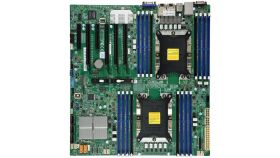 Supermicro X11DPI-NT/BULK, ATX - 2 x Processor Support - 2 TB DDR4 SDRAM Maximum RAM - 2.67 GHz, 2.40 GHz, 2.13 GHz Memory Speed Supported - RDIMM, DIMM, LRDIMM - 16 x Memory Slots - Serial ATA/600 RAID Supported Controller - 10, 5, 1, 0 RAID Levels