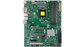 Supermicro mainboard server X11SCA-Bulk Single Socket H4 (LGA 1151), 1x LAN with Intel Ethernet Controller I210-ATSingle LAN with Intel PHY I219LM LAN controller, 1 PCI-E 3.0 x4, 1 PCI-E 3.0 x1, 2 PCI-Ex16 slots