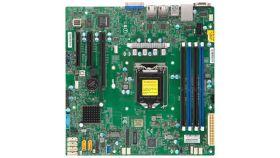 Supermicro Motherboard MBD-X11SCL-F 1xLGA 1151, Intel C242, 4xDDR4, 2x1GbE LAN, 6xSATA3 (6Gbps) RAID 0,1,5,10, 6xUSB 2.0 + 5xUSB 3.1 Gen1, 1xVGA, 2 COM, 1xPCI-E 3.0 x16 + 2xPCI-E 3.0 x8, Micro-ATX, Ret.