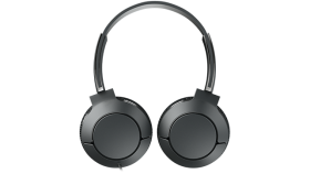 TCL On-Ear Wired Headset, Strong BASS, flat fold, Frequency of response: 10-22K, Sensitivity: 102 dB, Driver Size: 32mm, Impedence: 32 Ohm, Acoustic system: closed, Max power input: 30mW, Connectivity type: 3.5mm jack, Color Shadow Black