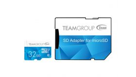 Карта памет Team Group Color microSDHC 32GB, UHS-I Class 10 + SD Адаптер