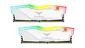 Памет Team Group T-Force Delta RGB White DDR4 - 16GB (2x8GB) 3200MHz CL16-18-18-38 1.35V