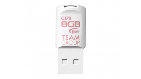 USB памет Team Group C171, 8GB, USB 2.0, Бяла