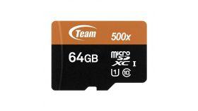 Карта памет Team Group 64GB Micro SDHC/SDXC UHS-I Orange Card + SD Adapter