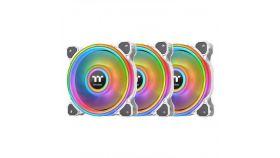 Вентилатори Thermaltake Riing Quad 12 RGB Radiator Fan TT Premium Edition 3 Броя  - Бяло с включен контролер
