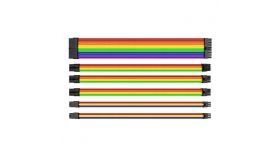 Комплект оплетени кабели Thermaltake TtMod, Rainbow