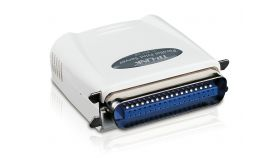 Single Parallel Port Fast Ethernet Print Server TL-PS110P