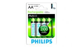 PHILIPS Rechargeable battery AA 2100 mAh 4-blister