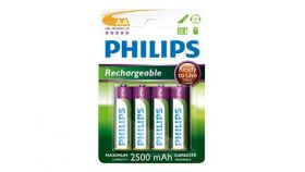 PHILIPS Rechargeable AA 2500 mAh 4-blister