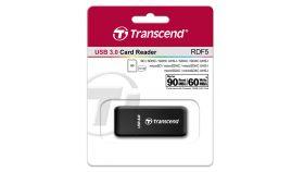 Четец за флаш карта Transcend USB 3.0 SD/microSD Single-Lun Card Reader, Black