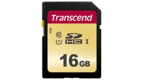 Памет Transcend 16GB UHS-I, Class 10, U1 SD Card , MLC NAND flash, read-write: up to 95MBs, 60MBs