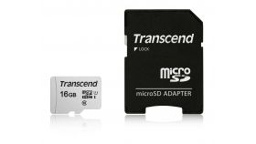 Памет Transcend 16GB UHS-I U1 microSDHC I, Class10 with Adapter, read: up to 95MBs, 45MB/s