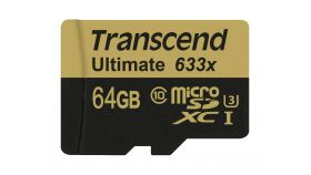 Памет Transcend 64GB MicroSDXC/SDHC Class 10 UHS-I U3 633x (Ultimate)with adapter, read: up to 95MB/s 633x