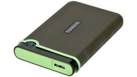 "Твърд диск Transcend 1TB StoreJet 25M3G USB 3.1, 2.5"" Rubber Case, Anti-Shock, Iron  Gray (Slim)"