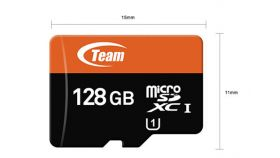 Team  16GB SDHC Micro class 10, с преходник за SD карта
