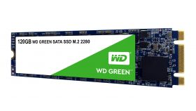 SSD WD Green 3D NAND 120GB M.2 2280(80 X 22mm) SATA III SLC, read up to 545MBs (3 years warranty)