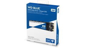 SSD WD Blue 3D NAND 250GB M.2 2280(80 X 22mm) SATA III, read-write: up to 550MBs, 525MBs (5 years warranty)
