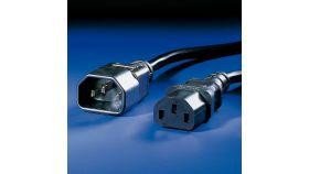 ROLINE 19.08.1515 :: VALUE кабел за захранване на монитор, черен цвят, 1.8 м