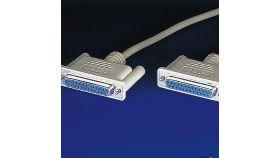 ROLINE 11.01.5118 :: Сериен кабел за връзка, DB-25 F - F, 1.8 м, нул-модем