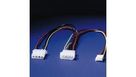 "ROLINE 11.03.1010 :: Захранващ кабел за флопи 5.25""+3.5"" 30 см"