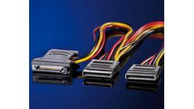 ROLINE 11.03.1041 :: ROLINE Y-тип разклонителен захр. кабел, SATA / 3x SATA