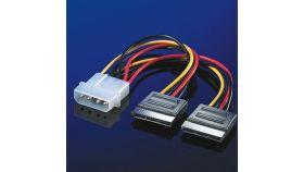 "ROLINE 11.03.1050 :: SATA захранващ кабел 2x SATA - 5.25"""