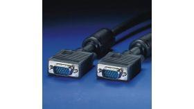 ROLINE 11.04.5256 :: VGA кабел HD15 M/M, 6.0 м с феритни накрайници, Quality