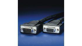 ROLINE 11.04.5310 :: VGA кабел HD15 M/F, 10.0 м, удължителен, Quality
