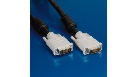 ROLINE 11.99.5595 :: VALUE DVI кабел, DVI M - M, dual link, 10.0 м