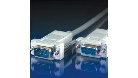 ROLINE 11.99.6218 :: RS-232 сериен кабел D9 M/F, 1.8 м, 9 проводника, сглобяем, удължителен
