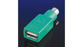 ROLINE 12.99.1072 :: VALUE преходник за мишка, USB - PS/2, зелен