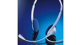 ROLINE 15.08.1325 :: Слушалки с микрофон, бял цвят, 2x 3.5 мм жак
